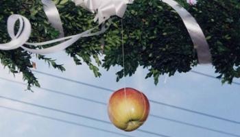 Gađanje jabuke pred mladinom kućom