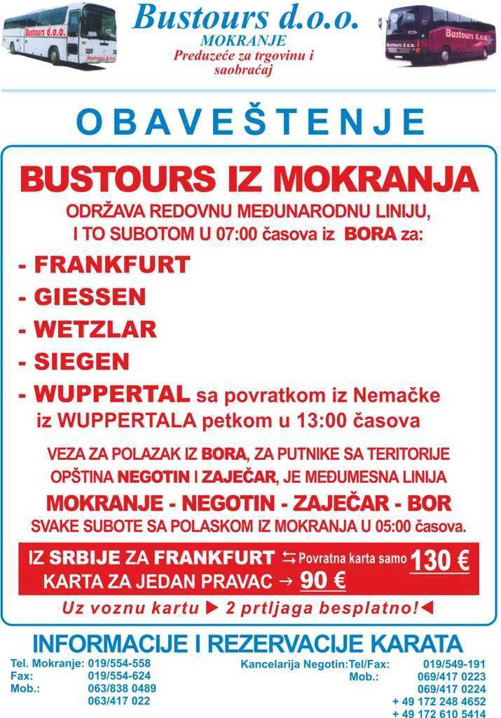 Autobuski Prevoz Frankfurt Srbija Prevoz Nemacka Srbija